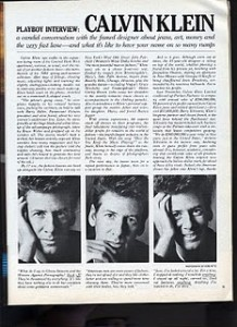 Calvin Klein Playboy Article