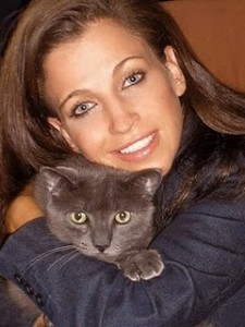 Wendy Diamond and her feline friend